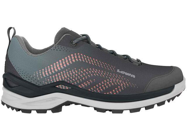 Lowa Zirrox GTX Low Shoes Women steel blue/mandarin